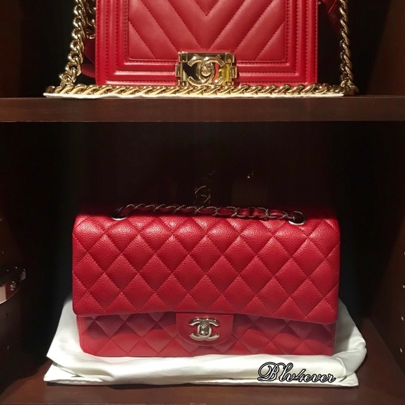 229eab62fa082e CHANEL Bags   Sold Authentic Classic Red Medium Flap   Poshmark